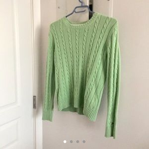 VINTAGE TOMMY HILFIGER GREEN SWEATER